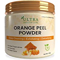 Orange Peel Powder 100 gm for Oil Control,Tan Removal,Acne Scars,Sun Protectant,Skin whitening, Glowing Skin,Natural…