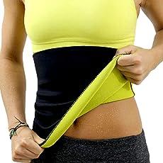 SJY Sweat Shaper Belt, Slimming belt, Waist shaper, Tummy Trimmer, Sweat slim belt, Belly fat burner, Stomach fat burner, Hot shaper belt, Best Quality, Super stretch, Unisex body shaper for men & women SIZE-XXXL