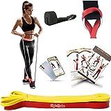 Kit Bande Elastique Fitness + Ancre de Porte + Programme vidéo d'exercices. Elastique Musculation Homme et Femme, Sport Maiso