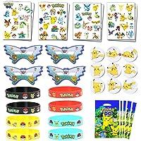 Herber Pikachu thème fête d'anniversaire faveur pour Les Enfants-Bracelets, Tatouages, Sacs-Cadeaux Goodie, insignes…