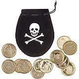 Boland 74300 Piratensäckchen mit 12 Goldmünzen, unisex-adult, Schwarz, One Size