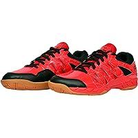 SEGA Lotus, Red Court Shoes, Ideal for Badminton, Squash & Tennis, Men/Women/Boys/Girls Sport Trainers