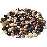 Royal Sapphire Aquarium Gravel River Rock - Natural Polished Decorative Gravel, Small Decorative Pebbles, Mixed Color Stones,