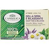 L'Angelica, Tisana Funzionale Calmante e Rilassante per Dormire a Base di Camomilla e Passiflora, Tisane con Effetto Distensi
