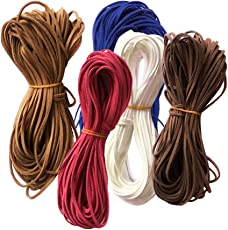 MagiDeal Set of 5PCS Flat Faux Suede Korean Velvets Cord String Jewelry DIY Making Lacing Beading Accessories 5#