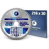 FALKENWALD ® Kreissägeblatt 216 x 30 mm - Ideal für Holz, Metall & Alu - Handkreissägeblatt kompatibel mit Kappsäge…