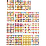 ewtshop® 5400 beloningsstickers, Teacherstickers, motivatiestickers, leuke stickers voor kinderen, volwassenen en leraren
