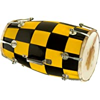 Hemlata Handicrafts Dholak Yellow Black