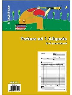 Blocco fattura 1 aliquota 33x3 autoricalcante f.to 29,7x22 EDIPRO E5284A
