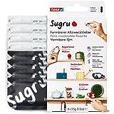 Sugru by tesa® - Vervormbare Universele Lijm, 8-pack, 8 x 3,5 g, Zwart & Wit - Veelzijdige Kneedgum - Voor Decoreren, Lijmen,