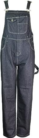Peviani Mens Fashion Dungarees Denim