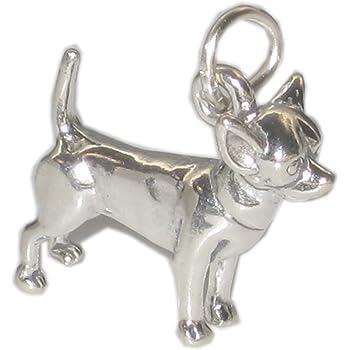84687e35e Chihuahua dog sterling silver charm .925 x 1 Chihuahuas dogs charms SSLP3201