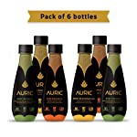 Auric Ayurvedic Beverage for Mind Body & Skin, Ready to Drink Juice, Superherbs with Coconut Water (Pack of 6, Each 250ML)