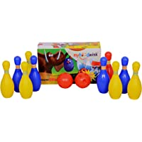 Myhoodwink Plastic Bowling Set, Multicolour, 3-12 Years, 10 Bowling Pins & 2 Balls