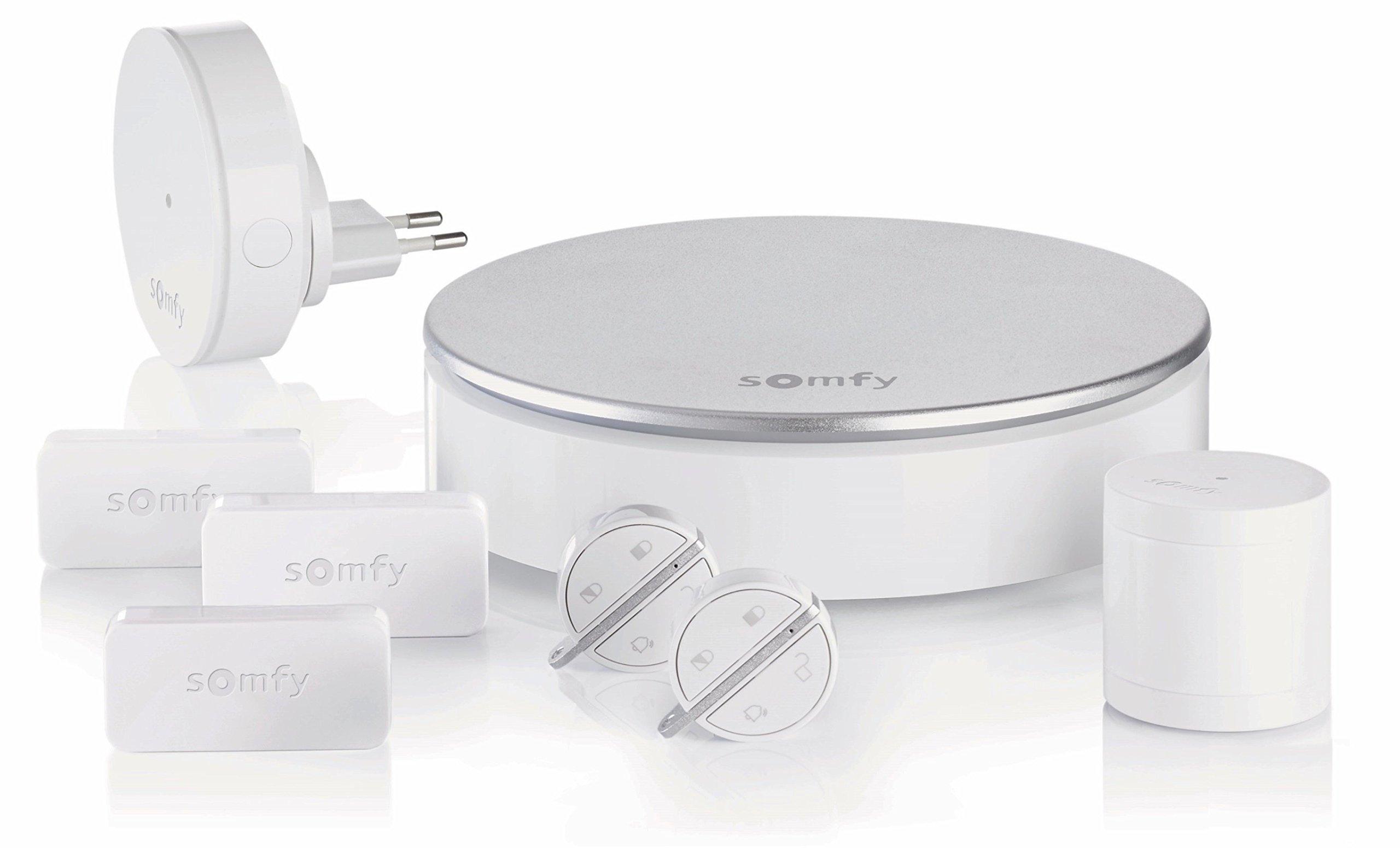 Somfy 2401497 – Home Alarm – Système d'Alarme Maison sans Fil Connecté – Somfy Protect – Compatible avec Alexa, l'Assistant Google et TaHoma