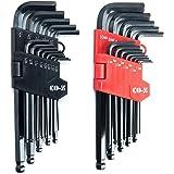 CO-Z 26 Pcs Innensechskantschlüssel Inbusschlüssel Set Innensechskant Satz Sechskantschlüssel Sechskantschlüsselset Winkelschlüsselsatz mit Kugelkopf 1,27 bis 10 mm Hex Key Wrench Set
