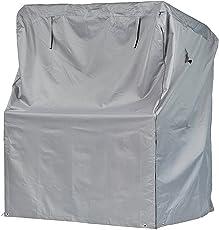 Strandkorb Schutzhülle / Premium (Breite bis 125 cm) wasserdichte Strandkorbabdeckung / Oxford 600D Polyestergewebe / mit Ventilationsöffnungen