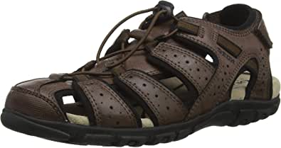 Geox Uomo Sandal Strada B, Sandali Punta Aperta