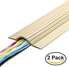 UT Wire UTW-CPL5-BG 5' Cable Blanket Low Profile Cord Cover and Protector, Beige (Pack of 2)