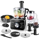 Robot culinaire Topchef 1100W Robot Multifonction(avec accessoires inclus: crochet pétrisseur, mixeur, presse-agrumes et moul