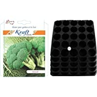 Kraft Seeds Seedling Tray (Pack of 5) & Broccoli Combo