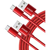 Anker USB C-kabel [2 stuks] 1,8 m dubbel gevlochten nylon type C oplaadkabel, voor Samsung Galaxy S8 S8 S9 S9 S10, HTC 10, So