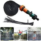 GHONLZIN Aspersor Trampolín, TrampolíN Parque Acuatico Aspersor Mejor Al Aire Libre, Cama elástica de Jardín Water Play Sprin