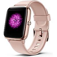 Smartwatch Damen,1,3'' Full-Touchscreen Fitness Tracker 5ATM Wasserdicht Fitness Armbanduhr mit Herzfrequenz…