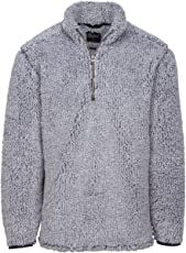 Oxford America Owen 1/4 Zip Heather Sherpa Pullover Classic Navy, Medium