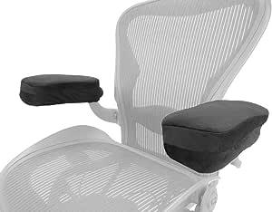 Arm-Eaz Coperture per Braccioli da Ufficio e Sedia da Gioco, Cuscini del Bracciolo della Schiuma di Memoria per Sedia Scrivania per Comfort del Gomito