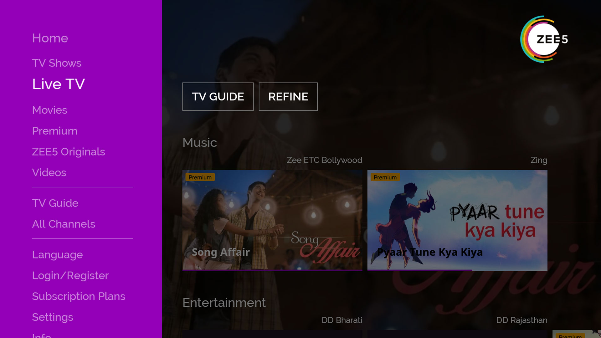 ZEE5 Movies Shows LIVE TV Originals