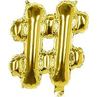 Boland- Palloncino Mylar Simbolo '#' (36cm), Oro, Colore Gold, 36 cm, 22157
