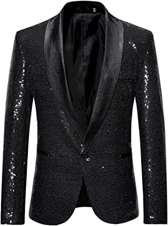 Men Wedding Blazer Suit Jacket Sequin Stylish Solid Suit Blazer Business Party Outwear Jacket Tops Blouse Goosun Formal Dinner Jacket Coat Suit