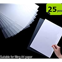 TULMAN L-Type Transparent A4 Size Document Sleeve Project Document Holder Plastic Folder for Document Paper Certificate - 25 Pcs