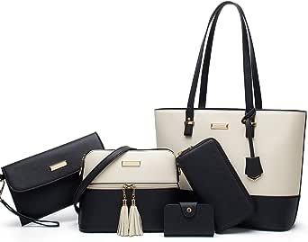 TcIFE Handtaschen Damen Schultertaschen Groß Handtaschen Set Für Frauen Umhängetasche Taschen