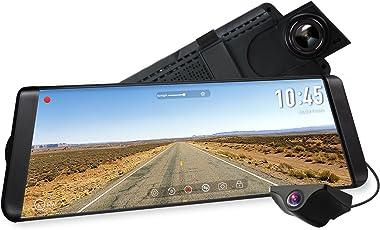 """AUTO-VOX X2 Streaming Dashcam mit 9.88"""" Zoll/25 cm LCD Touchscreen, Full HD 1296P Autokamera Vorne und Hinten 140° Weitwinkel IP68 Wasserdichte Rückfahrkamera mit Nachtsicht"""