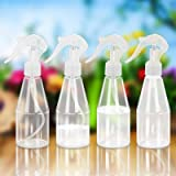 LAMEK 4x200ml Botella de Spray Vacía Atomizador de Plantas Transparente Botella de Spray Plástico Contenedor Rellenable Pulve
