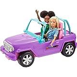 Barbie Jeep, coche todo terreno al aire libre, coche de juguete (Matte GMT46)
