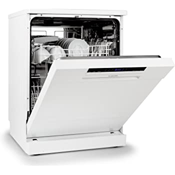 Klarstein Amazonia 60 Lave-Vaisselle encastrable (Classe énergétique A++, 1850 W, 6 programmes de Lavage, capacité 12 Couverts, 49 DB, système aquastop) - Blanc