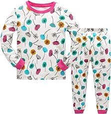 Tkiames Mädchen Schlafanzug Giraffe Baumwolle Kinder Langarm Pyjama 98 104 110 116 122 128 134 140 146