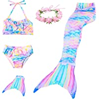 Costume da bagno a forma di coda di sirena, bikini da principessa, con pinna