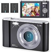 Fambrow Fotocamere Digitali Compatte, 2.88 Pollici Ultra 2.7K 44 MegaPixel Macchina Fotografica, Camera Digitale Con…