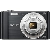 Sony DSCW810B.CEH Digital Compact Camera (20.1 MP, 6 x Zoom, 2.7 LCD, 720p HD, 26 mm…