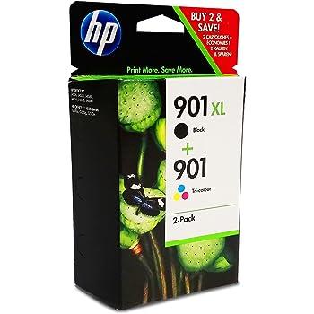 HP 901XL Cartuccia Originale Getto d'Inchiostro ad Alta Capacità, Nero + HP 901 Cartuccia Originale Getto d'Inchiostro , Tricromia