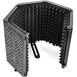 Escudo Aislamiento Micrófono, Moman RF30 Filtro Antipop de Espuma para Cualquier Micro Condensador Estudio con 5 Panel Acusti