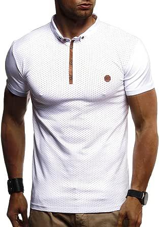 Leif Nelson Herren trendiges Polo T-Shirt Kurzarmshirt Sweatshirt Sportshirt Sommer Kurzarm Longsleeve modernes Basic