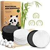 22 stuks make-uppads, wasbaar, herbruikbare wattenschijfjes van bamboe en katoen, perfect voor gezichtsreiniging, milieuvrien