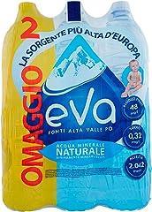 Eva Acqua Naturale Fonti Alta Valle PO, 6 x 1.5L