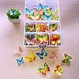 100 stuks eetbare Taarttoppers, vlinder/bloem vorm taart bakken decoratie kleverige eetbare rijstpapier wafel papier cake des