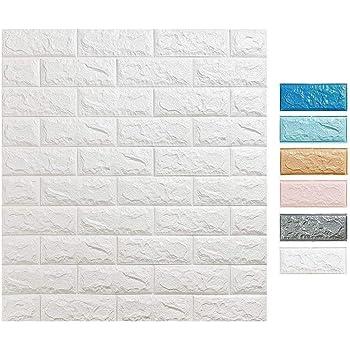3d Ziegelstein Tapete 60x60cm Weiß Brick Pattern Wallpaper